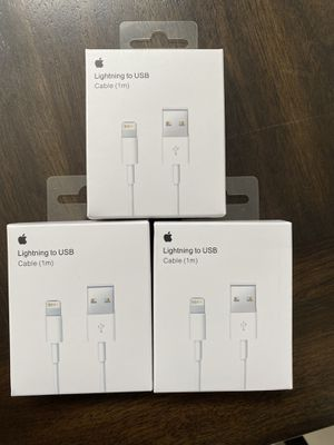 Apple lightning cable 1m brand new sealed 1 for 8$ 2 for 15$ 3 for 20$ for Sale in San Diego, CA