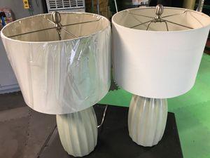 "26"" Light Olive Green Ceramic Table Lamp Set for Sale in Stockton, CA"