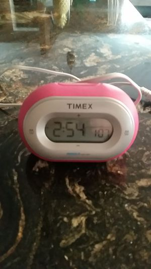 Timex digital clock with 2 alarms, pink for Sale in La Mesa, CA