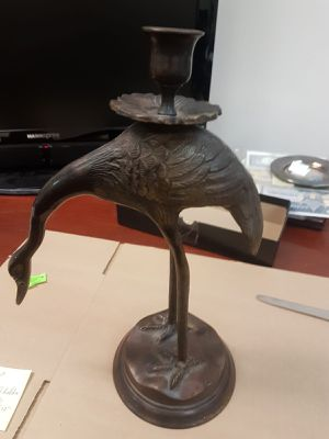 """Vintage Antique Crane CandleStick Candle Holder about12""""Brass Copper/Bronze! B10 for Sale in Ontario, CA"""