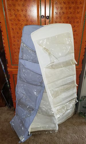 3 hanging fabric and plastic closet organizers for Sale in Tacoma, WA