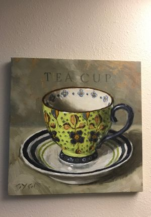 Tea cup kitchen wall art for Sale in Templeton, CA