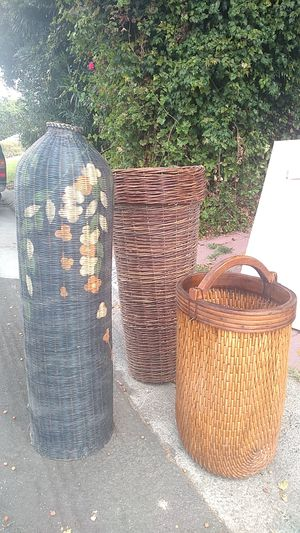 Decorative baskets about 3 to 4 ft tall for Sale in Newport Beach, CA