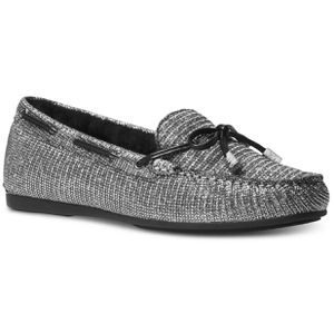 Michael Kors Silver Glitter Moccasins Size 10 NEW for Sale in Atchison, KS