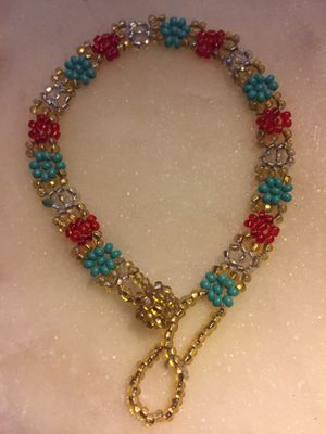 Handmade Multi colored Glass bead bracelet for Sale in Chino, CA