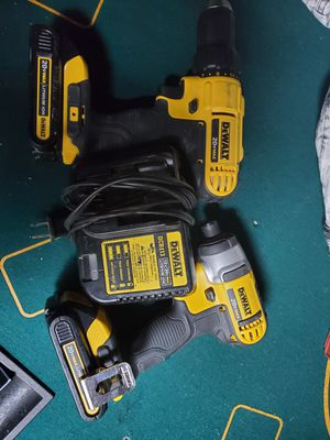 Dewalt 20v drills with batteries and charger for Sale in San Jose, CA