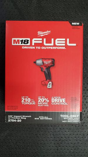 MILWAUKEE M18 FUEL 18-Volt BRUSHLESS CORDLESS 3/8 in. COMPACT IMPACT WRENCH [PISTOLA DE IMPACTO] for Sale in San Diego, CA