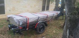 Jon Boat, 3 Motors, Trailer, batteries, fishfinder for Sale in Austin, TX