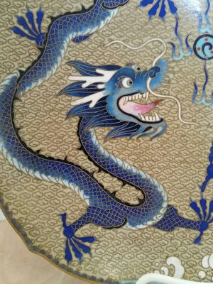 Antique Cloisonne Chinese Dragon Five Claw Highly Detailed Genuine for Sale in Los Angeles, CA