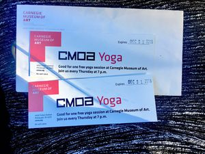 2 Yoga Passes at Carnegie Museum of Art for Sale in Canonsburg, PA