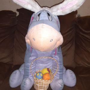 2010 Disney Gemmy Industries 20in Winnie the Pooh Easter Greeter Eeyore Stuffed Toy w/ Original tags for Sale in Los Lunas, NM