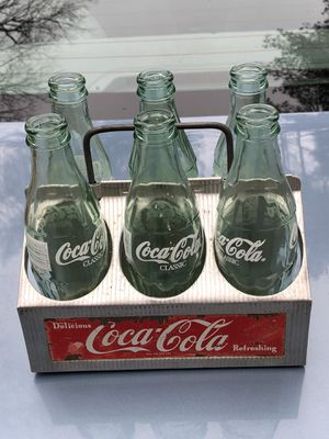 Coca Cola holder with bottles for Sale in Sharon, MA