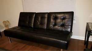 Black Leather Futons (matching pair) for Sale in Ashburn, VA