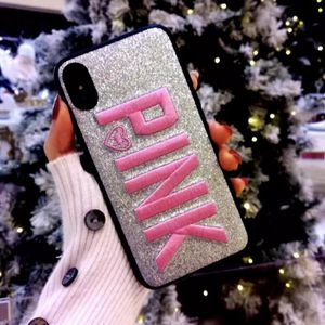 Silver Victoria's Secret PINK 3D Embroidery iPhone Case for Sale in Abilene, TX