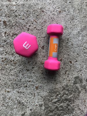 CAP Barbell SDN5-003 3lb Neoprene Dumbbell, Pair - Magenta for Sale in Nashville, TN