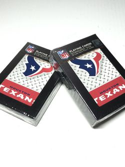 Set of 2x Football Houston Texans Playing Cards Deck Licensed NFL Standard Size for Sale in Hallandale Beach,  FL