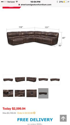 St. Malo 6-Piece Power Reclining Sectional with Modular Console - Brown for Sale in Brandon, FL