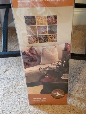 Foil embellished tapestry tiles art for Sale in Durham, NC