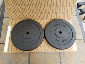 2 x 50 Lb Wallingford Barbell Weight Plates for Sale in Bethel, CT