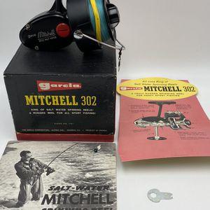 Vintage Garcia Mitchell 302 Salt Water Spinning Reel *NOS* with Literature for Sale in Renton, WA