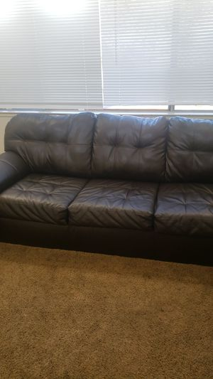 Sectional couch black leather for Sale in Modesto, CA