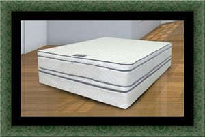Queen mattress double pillow top with box spring for Sale in Takoma Park, MD