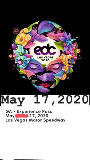 EDC Sunday May 17, 2020 +free shuttle for Sale in Hacienda Heights, CA