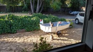 14 foot Sears boat with trailer, sturdy, painted but this owner never used and never received paperwork. for Sale in Carmichael, CA