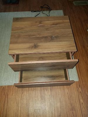 2 DRAWER NIGHT STAND WITH HIDDEN TABLE TOP USB AND PLUG IN PORT for Sale in TN, US