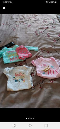 Baby girl onesies size 3/6 months to 9 mos. for Sale in Prattville,  AL