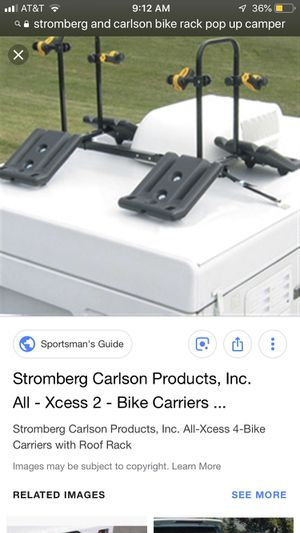 Stromberg and Carlson bike rack for pop up camper, holds 4 bikes for Sale in Houston, TX