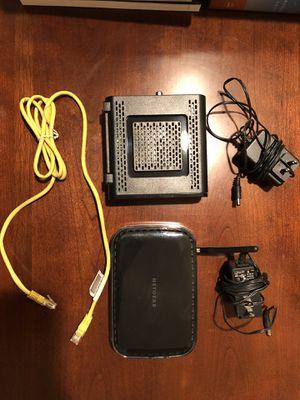 NETGEAR Router/Motorola Modem WIFI for Sale in Boston, MA