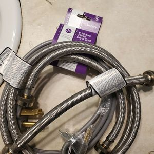 Steel Braided Hoses For Washer. Dryer Connection Cord for Sale in Troutdale, OR