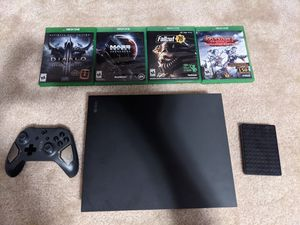 Xbox One X with games, external HD and one controller for Sale in Wake Forest, NC