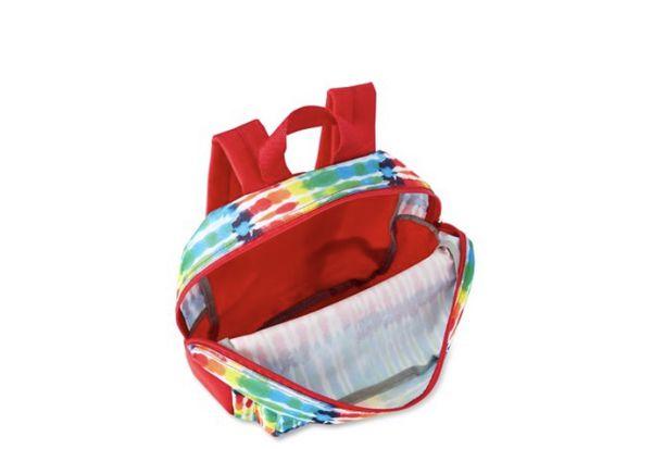 """Backpack tie dye 15"""" rainbow"""