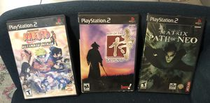 PS2 Games: Naruto/ Way of Samuri/ Path of Neo for Sale in Zolfo Springs, FL
