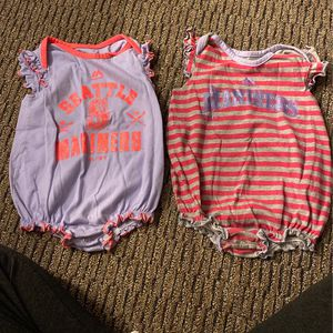 Mariners Baby Girl Onesies 12 Months for Sale in Arlington, WA
