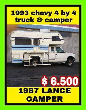 1993 chevy truck and 1987 lance camper for Sale in Los Angeles, CA