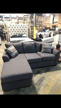 Brand new. Grey Sofa w/ Chaise for Sale in La Vergne,  TN