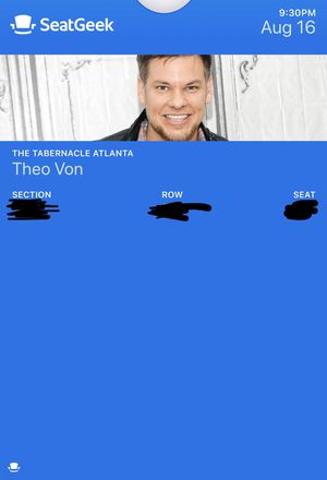 3 Theo Von Tickets (9:30pm show on 08.16.19) for Sale in Dunwoody, GA