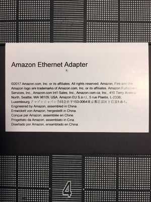 Amazon Ethernet adapter for Fire TV for Sale in Long Beach, CA