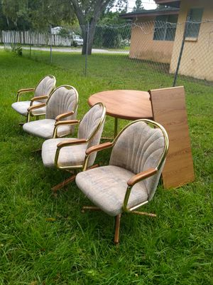 Wooden table and chairs will deliver for Sale in Sarasota, FL
