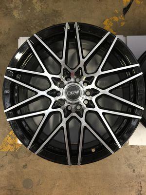 "Brand New 18"" Inch Diablo D17 18X8 Black Machined Wheels Rims Rines 5X110 5X4.33 5X114.3 5X4.5 for Sale in Austin, TX"