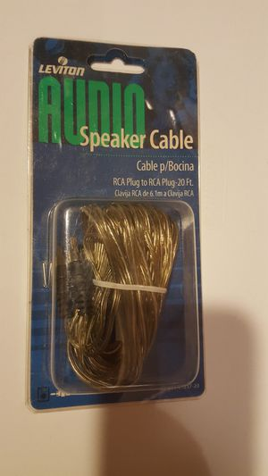 Speaker audio sound cable RCA plug on both end. 29 feet. New in package. for Sale in Long Beach, CA