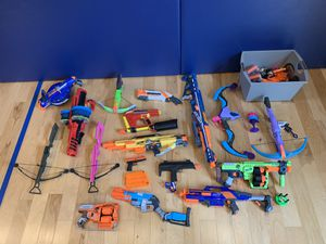 Nerf guns, crossbows, bullets for Sale in Richfield, OH