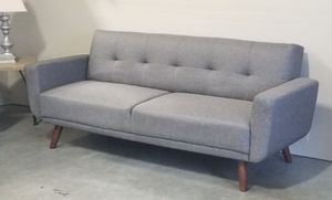 New with tags Gray Mid-Century Modern Sofa Convertible Bed Couch Futon for Sale in Vancouver, WA