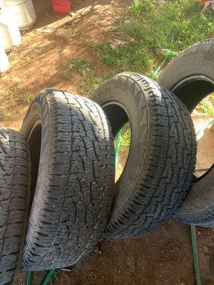 Full set 18 all terrain tires for Sale in Lubbock, TX