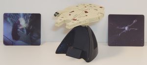 Star Wars Mini Millennium Falcon & Motion cards for Sale in Lakewood, WA
