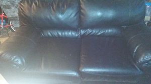 Black couch two seater love couch for Sale in Wichita, KS