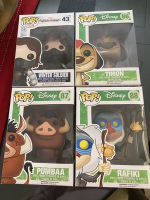 Winter soldier and Lion King funko pops for Sale in San Marcos, CA